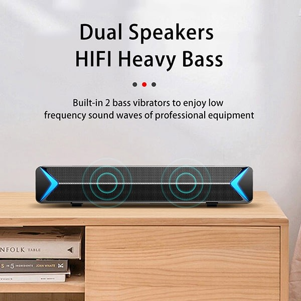 YABA TV Sound Bar AUX Speakers for the computer Bluetooth Speaker Home Theater FM Radio Surround Sound Bar for TV barra sonido
