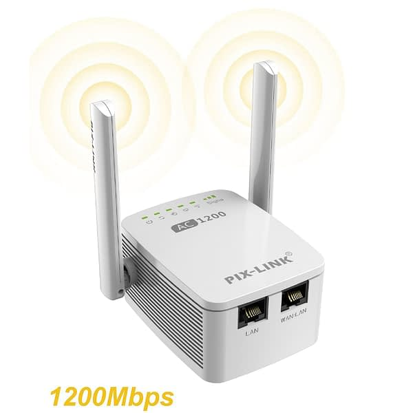 1200Mbps 5G WiFi Repeater Router Wifi Extender 2.4G Wireless Wifi Long Range Booster Wi-Fi Signal Amplifier 5ghz Wi Fi Repiter