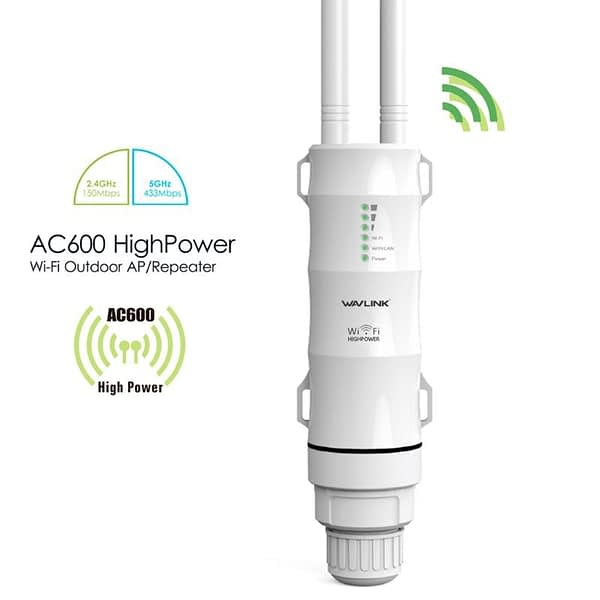 AC600 High Power Outdoor WIFI Router/AP Frequency Wireless WIFI Repeater Wifi Dual Dand 2.4G/5G Antenna POE