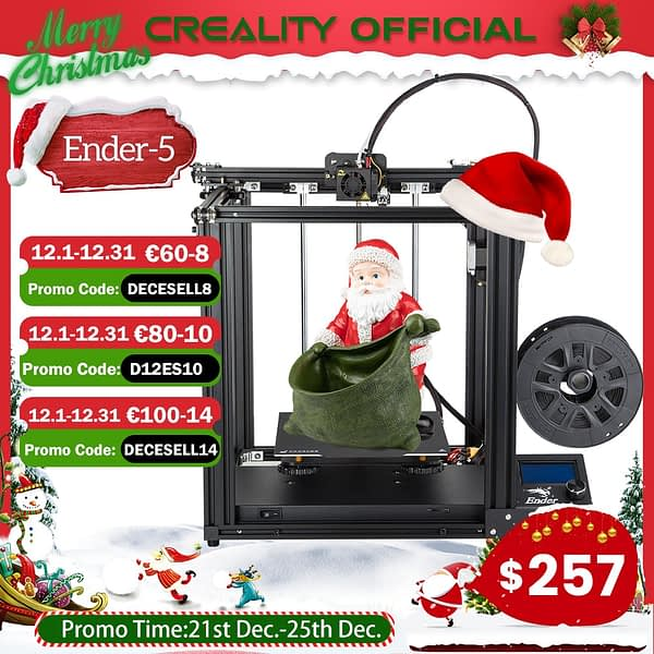 CREALITY 3D Printer Ender-5 Dual Y-axis Motors Magnetic Build Plate Power off Resume Printing Masks Enclosed Structure