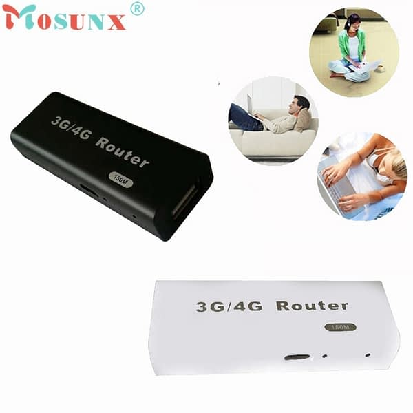Factory price Hot Sell NOSUNX Mini 3G/4G WiFi Wlan Hotspot AP Client 150Mbps RJ45 USB Wireless Router AU4 Oct19 Drop Shipping