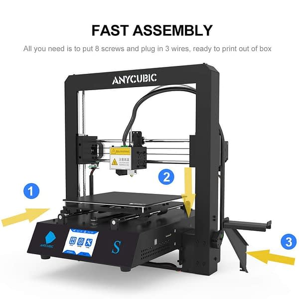 3D Printer Mega S Printing Flexible Filament Metal Frame Touch Screen Anycubic I3 Mega Upgrade Extruder Kit With Hotbed