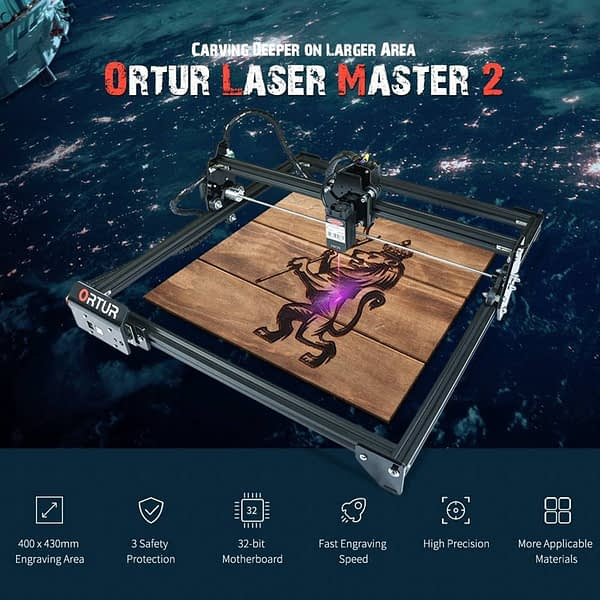 Fast Delivery ORTUR Laser Master 2 Laser Engraving Cutting Machine With 32-Bit Motherboard 7W 15W 20W Laser Printer CNC Router