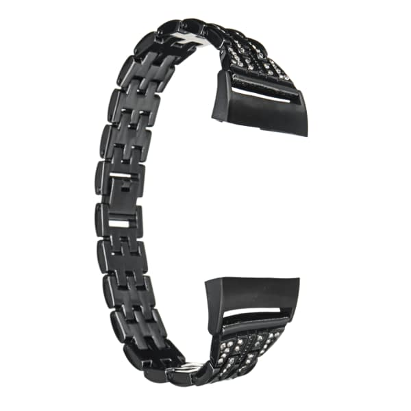 Bakeey Crystal Stainless Steel Replacement Watch Band Strap for Fitbit Charge 3 Smart Watch