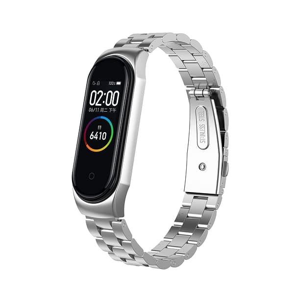 Bakeey Anti-lost Design Chain Bracelet Replacement Watch Band for Xiaomi Mi Band 4&3 Smart Watch Non-original