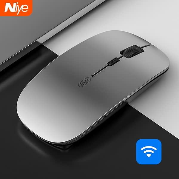 Niye Wireless Mouse Computer Mouse 2.4GHz USB Adapter Home Office Desktop Computer Mice Laptop Wireless Mouse Ergonomic Mouse