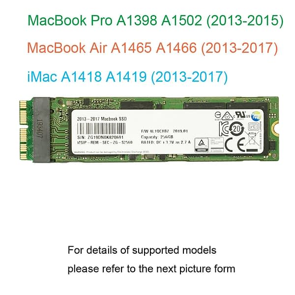 128GB 256GB 512GB 1TB SSD For 2013 2014 2015 2017 Macbook Air A1465 A1466 For Macbook Pro Retina A1398 A1502 Solid State Drive