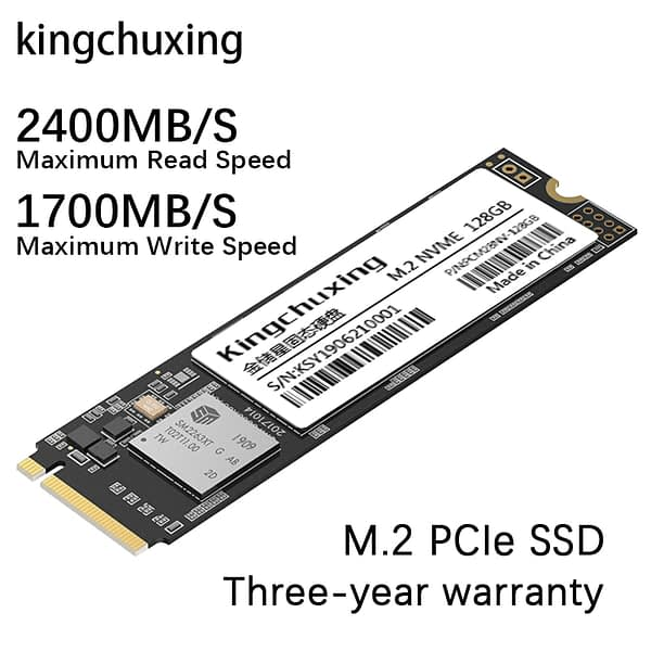 Kingchuxing M.2 SSD M2 NVME 512gb PCIe 1tb 256gb 128gb Internal Solid State Drive 2280 Hard Disk HDD for Laptop Desktop MSI