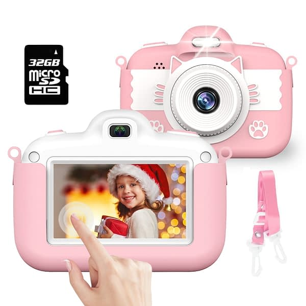 1080P HD Kids Camera Baby Toys Displayer 3.0' IPS Touch Screen Digital Cameras For Children Girls Christmas Gift Mini Camera