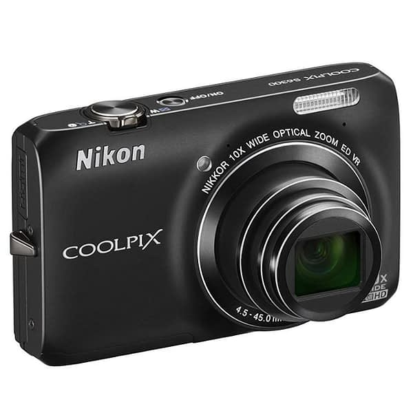USED Nikon COOLPIX S6300 16 MP Digital Camera with 10x Zoom NIKKOR Glass Lens and Full HD 1080p Video
