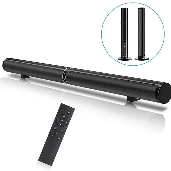 Bluetooth Stereo Soundbar Detachable for TV 50W Wired and Wireless Speakers with Remote Home Theater Surround Bars Support HDMI