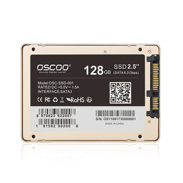 OSCOO 2.5inch Solid State Drive Original MLC Nand Flash Internal SSD Hard Disk 128GB 256GB 512G SSD SATA3 for Laptop and Desktop