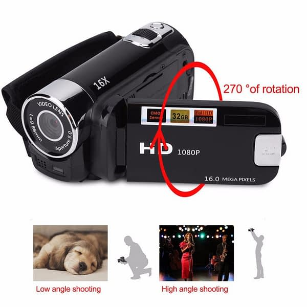 1080P High Definition DVR LED Light Gifts Shooting Anti-shake Portable Digital Camera Professional Camcorder Clear Night Vision