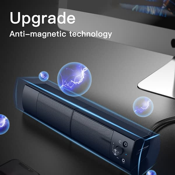 Detachable Subwoofer Bluetooth Speaker PC sound bar USB Wired with Microphone 360 degree Stereo Surround Home Speakers Aux 3.5mm