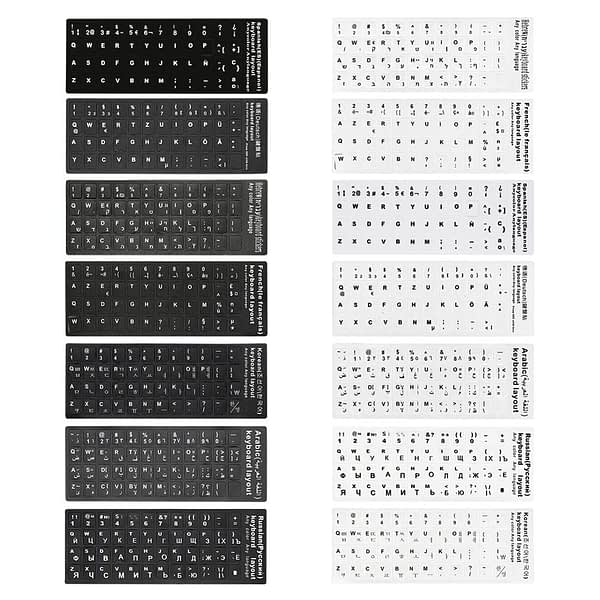 7 Language 10inch Keyboard Cover Stickers For Notebook Laptop PC Keyboard Computer Standard Letter Layout Keyboard Covers Film