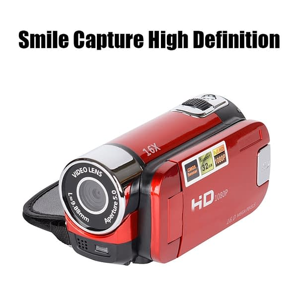 Newest 2 Colors High-definition Digital Camera Professional Video Camera Camcorder 2.7 Inch TFT Smile Capture High Definition