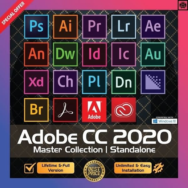 [Latest] Adobe CC 2020 - 2021 Win 10 / Mac - Photoshop, Illustrator, After Effects, Premiere Pro, InDesign, Lightroom