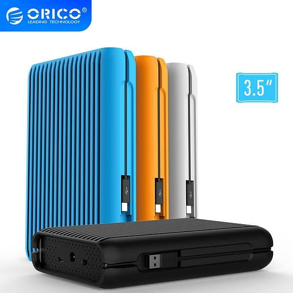 ORICO 3.5 Inch USB C External Hard Drive Disk HDD 1TB 2TB 3TB Hard Disk HD USB3.1 Gen2 10Gbps Type-C Cable With EU Power Adapter