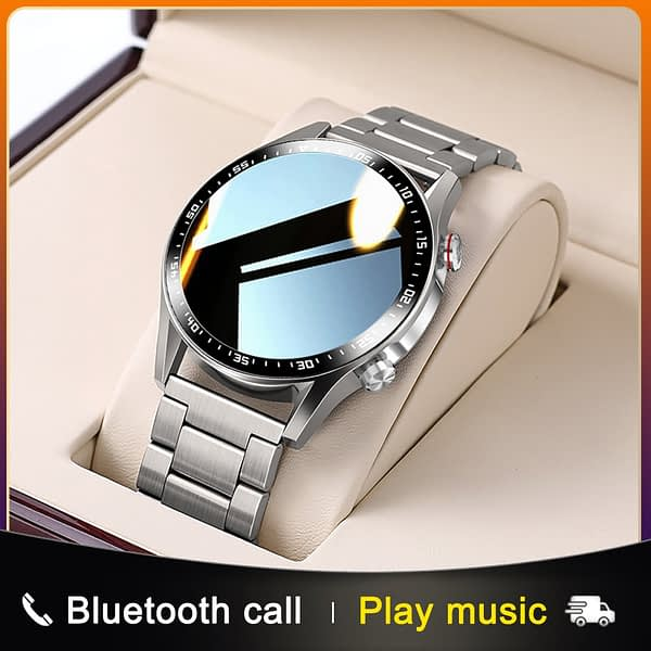 E1-2 Smart Watch Men Bluetooth Call Custom Dial Full Touch Screen Waterproof Smartwatch For Android IOS Sports Fitness Tracker