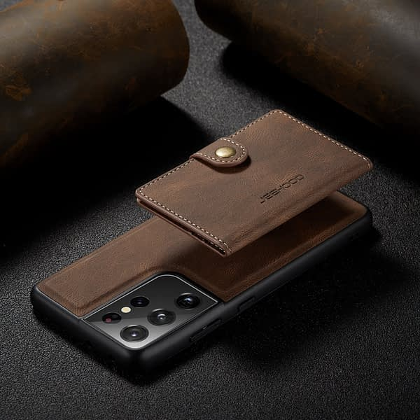 2 In 1 Magnetic Wallet Luxury Leather Phone Case for Samsung Note 8 9 10 S 20 21 Plus Ultra FE A51 A71