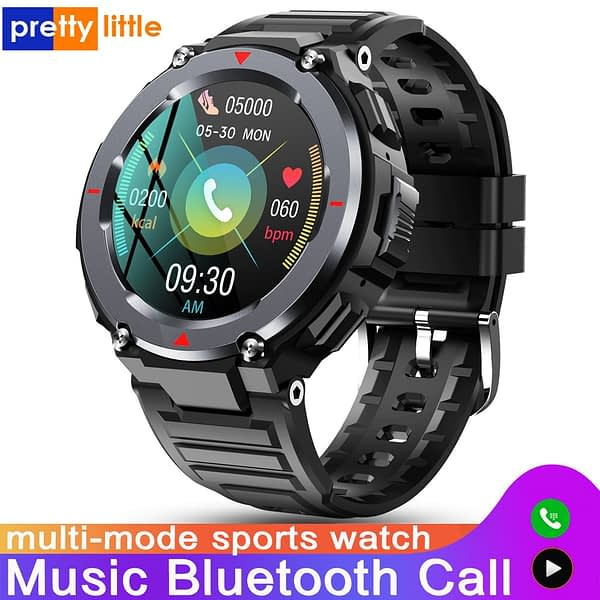 New S-25 Bluetooth Call Smart Watch Men Multi-Mode Sport Outdoor Music Play Waterproof Smartwatch Hear Rate Monitor Android IOS