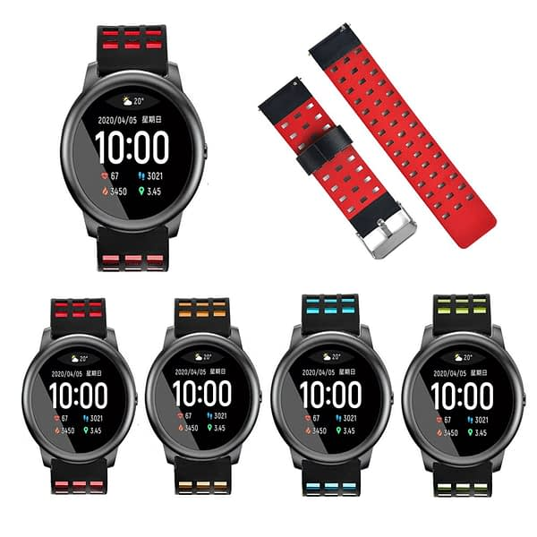 Bakeey 22mm Genuine Leather Strap Smart Watch Band For Xiaomi Haylou Solar Non-original