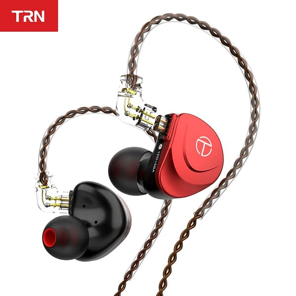 TRN V90S OCC Pure Copper Cable 5BA+1DD Metal Headset Hybrid HIFI Bass Earbuds In Ear Monitor Noise Cancelling Earphones