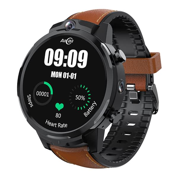 [0.1S Face Unlock] ALLCALL Awatch GT2 Face Recoginition 3G+32G Dual Cameras WIFI GPS Removable Strap Dual 4G Smart Watch Phone