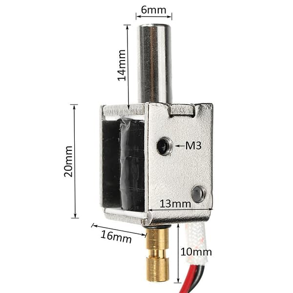 12V DC 0.43A Mini Electric Bolt Lock Push Pull Cylindrical Solenoid Lock 5mm Stroke Access Control Electric Electromagnetic Lock