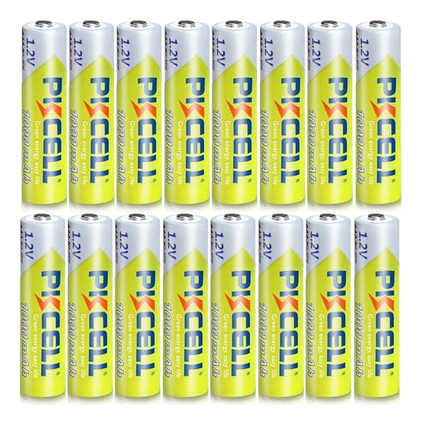 16pcs/Lot PKCELL 1.2V 1000mAh NiMh AAA Rechargeable Battery Ni-mh 3A Batteries AAA Battria High Energy For flashlight toys