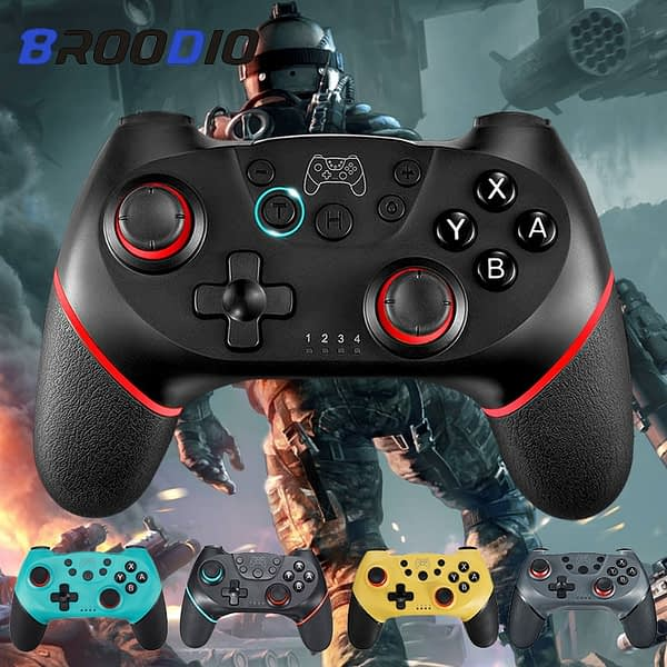 2020 Bluetooth Gamepad For Nintendo Switch Pro Controller For Nintendo NS Switch Console Wireless Gamepad Game Joystick Control