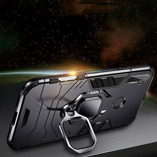 """For OPPO A15 Caes Ring Stand Shockproof TPU Bumper Coque Cover For Oppo A15 6.52"""" OppoA15 Case Fundas Hard PC Protective Shell"""