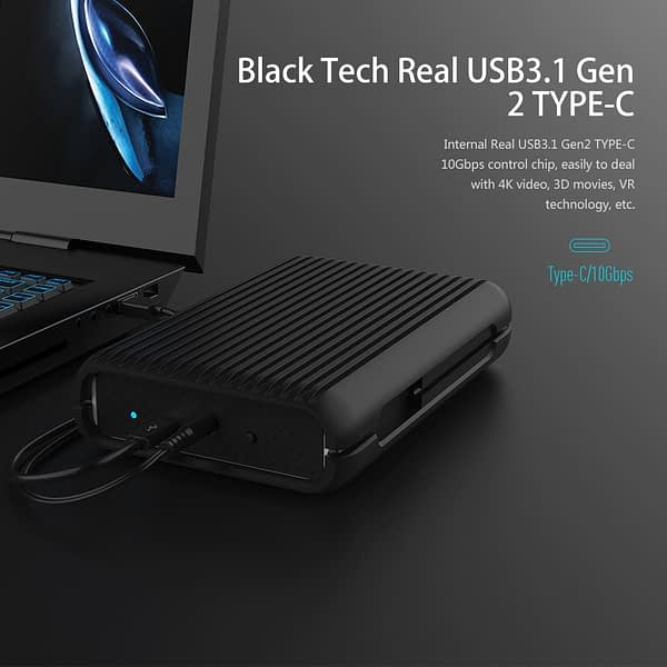 ORICO HDD 1/2/3/4 TB USB3.1 Gen2 TYPE-C 3.5 In 10Gbps High-Speed Shockproof External Hard Drives HDD Desktop Mobile Hard Disk