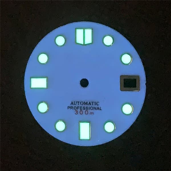 28.5mm White Watch Dial w/ Luminous Plate Literal for NH35 Movement Watch DIY Replacement Dial Part Accessories