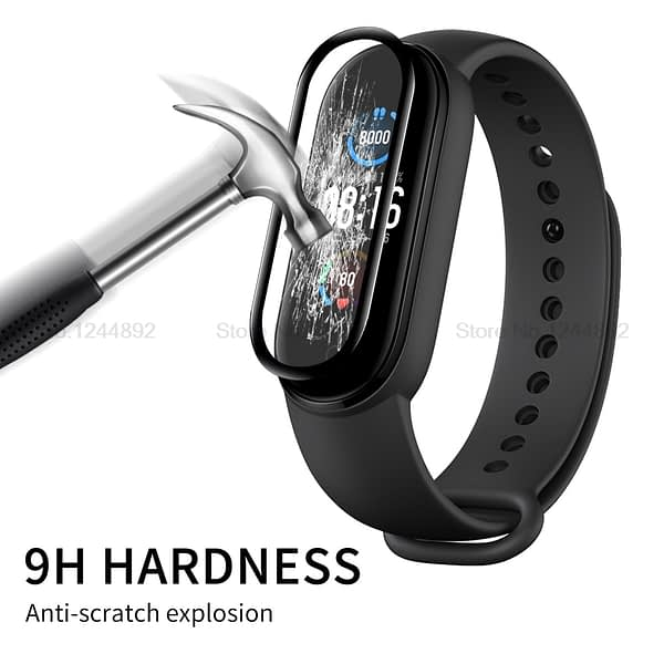 3D Protective Glass For Xiaomi Mi band 5 Tempered Glass For Xiaomi Mi Band 5 Mi Band 5 Full Curved Screen Protector For Mi Band5
