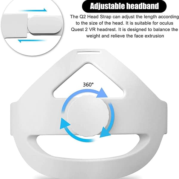 Comfortable Non-Slip Pressure-Relieving Head Strap Foam Pad for Oculus Quest 2 Headset Cushion Headband Fixing Frame,ONLY White!