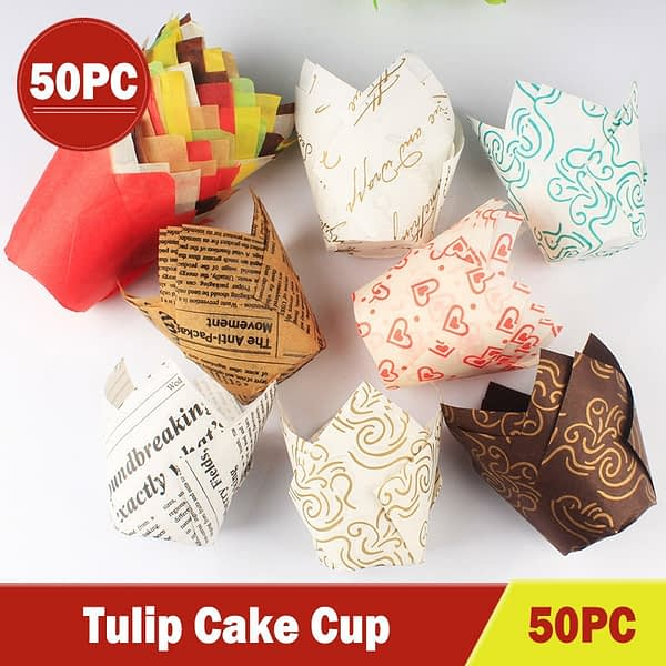 2021 New Household Items Cupcake Liners Cup Paper Tuli Baking Wrappe Case Cake Muffin Cup Box Useful Для Дома