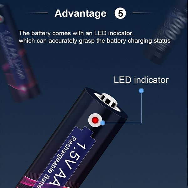 AA 1.5V rechargeable battery 3000mWh lithium Li-ion 2A Pre-charged Bateria 1.5v AA Batteria Rechargeable aa Batteries