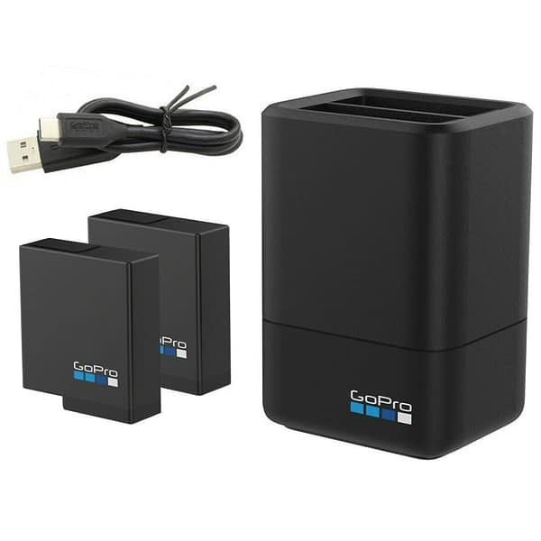 100% Original For GoPro Dual Battery Charger + 2 Battery Hero 8 7 6 5 HERO7 Black / HERO6 Black / HERO5 Black camera