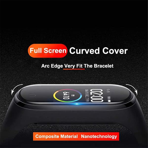 3D Screen Protector for xiaomi mi band 4 5 Protective Glass Miband 4 Full Curved Edge Scratch-resistant Cover for mi band4 Film
