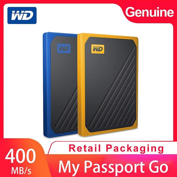 Western Digital My Passport Go mobile solid state hard drive PSSD 1TB mobile hard drive USB3.0