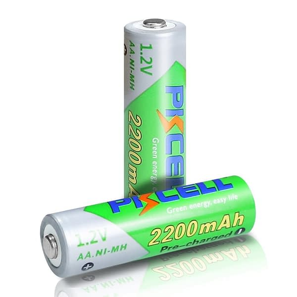 2/4Pcs PKCEE 1.2V 2200mAh AA Rechargeable Battery LSD battery Low Self discharge NIMH aa battery for Camera