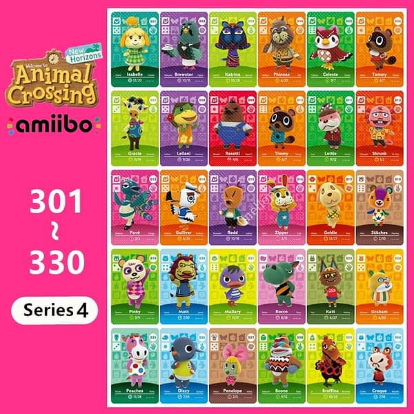 Animal Croxxing NO.301~330 NFC Card Game Card Series 4 For NS Switch 3DS Card Hot Villager New Horizons