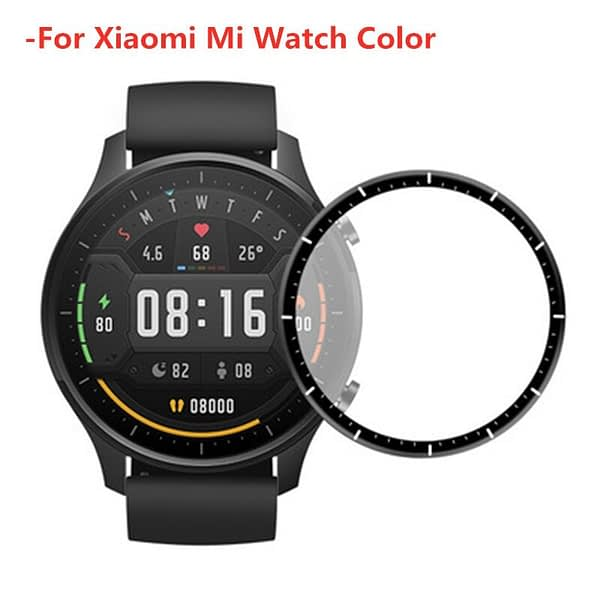 3D Curved Full Edge Protective film for Xiaomi Mi Watch Color Global Version Soft Screen Protector for Xiaomi Color Smartwatch