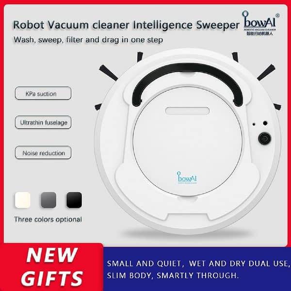 bowAI Robot Vacuum Cleaner Wireless For Home 1800Pa Upgrade Smart Household Powerful Cleaning Cyclone Nail Dust Wet and Dry Mop