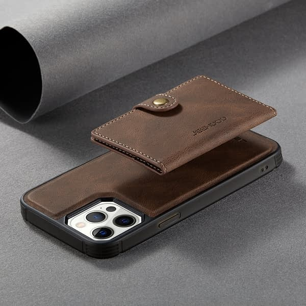 2 In 1 Magnetic Wallet Luxury Leather Phone Case for IPhone 12 11 Pro XS Max XR 6 7 8 Plus SE 2020
