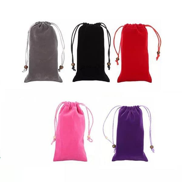 Hanging Neck Microfiber Pouch Cell Phone Soft Storage Glasses Sleeve Pouch Sunglasses Bag Case Cover with Drawstring Closure