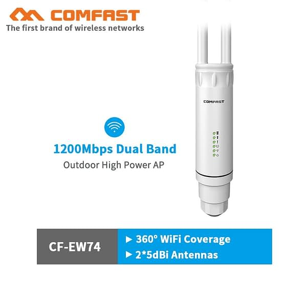 AC1200 500mW High Power Outdoor WIFI Router/Access Point/CPE Dual Dand 2.4Ghz/5Ghz Outdoor AP 10dBi Antenna POE WIFI coverage AP