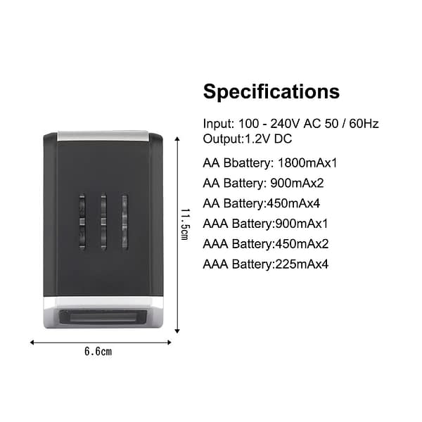 PHOMAX LCD-002 LCD Household Display With 4 Slots Smart Intelligent Battery Charger For AA/AAA NiCd NiMh Rechargeable Batteries