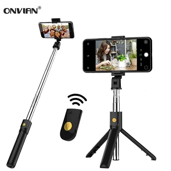 Onvian 3 in 1 Wireless Bluetooth Selfie Stick with Shutter Remote Tripod for Phone Monopod for iPhone Huawei Samsung Oneplus
